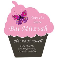 Bat Mitzvah Party Announcement Invitation Save the Date Magnets