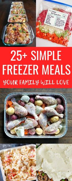 I love this list of easy freezer meals! It's of the BEST freezer meals to prep ahead of time and make busy weeknights super easy! These meals are SO much better than anything we could get for takeout not to mention the cost savings! Freezable Meals, Freezer Friendly Meals, Healthy Freezer Meals, Make Ahead Freezer Meals, Freezer Cooking, Quick Meals, Cooking Time, Cooking Recipes, Cooking 101