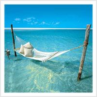 Two of my favorite things: the ocean and a hammock. Give me a good book and a margarita and it would be perfection. :)