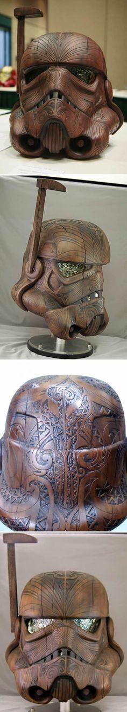 Stormtrooper Maori Helmet by Daniel Logan