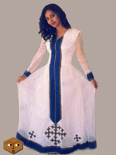 New ethiopian traditional dress, zerzer  [checklist style='arrow']   handwoven fabric  hand embroidered  100% cotton  made to order  processing time 1 - 2weeks  [/checklist]