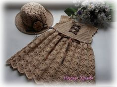 Click to view pattern for - Crochet brown dress for girl