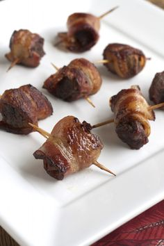 Bacon & Steak Bites. Make these with elk meat and I bet it would be so good!