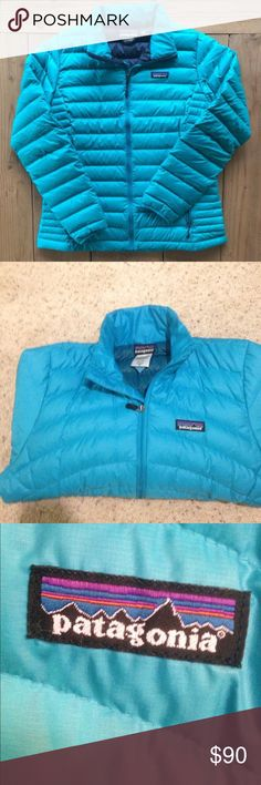 Patagonia nano puff jacket New condition. Only worn a couple times! Is slightly too big for me so looking to sell it. Super pretty bright blue color and super warm and cozy :) Patagonia Jackets & Coats Puffers