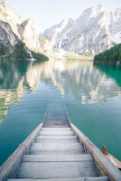 Lake Braies ~ is a lake in the Prags Dolomites Mountains in South Tyrol, Italy Photography:Sandra Åberg
