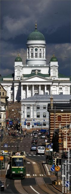 The Cathedral of Helsinki, Finland. | Vertical Crop for Pinterest.