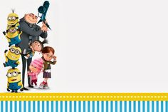 Despicable Me: Invitations and Party Free Printables. - FREE!!!! Whoop Whoop