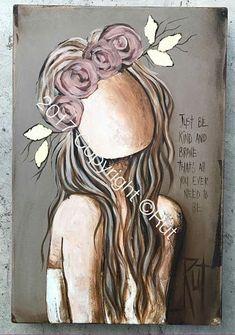 Kunstjournal Inspiration, Art Journal Inspiration, Painting Inspiration, Angel Artwork, Diy Artwork, Sad Art, Pallet Art, Whimsical Art, Up Girl