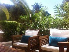 Gelijkvloers appartement met eigen terras en uitzicht op zee  Vakantieverhuur in Cala Tarida van @homeaway! #vacation #rental #travel #homeaway