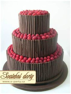 The latest tips and news on Wedding Cakes are on POPSUGAR Food. On POPSUGAR Food you will find everything you need on food, recipes and Wedding Cakes. Beautiful Wedding Cakes, Beautiful Cakes, Amazing Cakes, Love Chocolate, Chocolate Lovers, Chocolate Sticks, Raspberry Chocolate, Chocolate Curls, Cupcakes