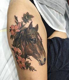 Horse Tattoo by Sophia Baughan