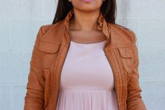 Thrift Challenge No. 4: Blush and Leather