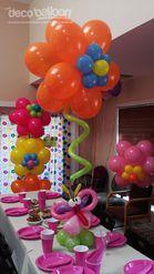 53. Floating Flower Balloon Centerpiece