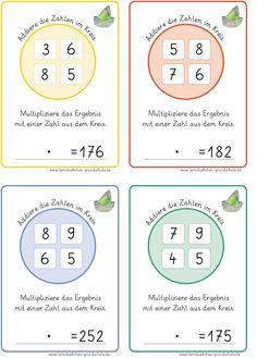 mit diesem Material kann man die halbschriftliche   oder auch schriftliche Multiplikation üben   und wenn die Kinder es sich leicht machen ...