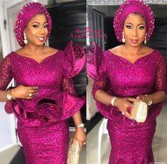 50 Sophisticated and amazing lace styles to rock - Stylish Naija Nigerian Lace Dress, Nigerian Lace Styles, African Lace Styles, African Lace Dresses, Latest African Fashion Dresses, African Dresses For Women, African Attire, African Blouses, African Wear