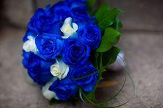 *blue rose wedding bouquet*
