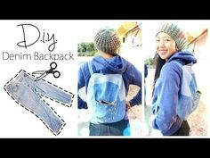 Learn how to transform a pair of jeans into a denim backpack with April's free sewing tutorial showing us how easy it can be. See more se… Diy Jeans, Artisanats Denim, Blue Jeans, Jean Diy, Jean Backpack, Denim Handbags, Diy Mode, Backpack Pattern, Denim Ideas