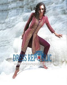 Burgundy Chemong, Product code: DR2899, by www.dressrepublic.com - Keywords: Pakistani Boutiques in Sacramento, CA, Shalwar Kameez Boutiques Sacramento, CA USA