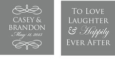 Script To Love, Laughter, and Happily Ever After - Custom Wedding Koozies (200 qty.) via Etsy