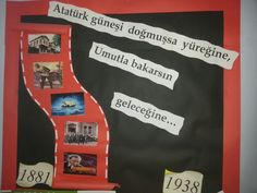 Ataturk köşesi Science Writing, My Job, Preschool Activities, Bulletin Boards, Four Square, Bullet Journal, Classroom, Education, Drinks