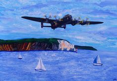 Lancaster over the Needles