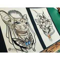 #bastet #neotraditional #tattooart #tattoodesign #tattooidea #tattoosketch