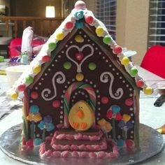 Who says gingerbread houses are just for Christmas?  I've wanted to do this for years!