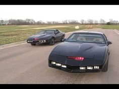 Awesome video showing two Knight Rider car replicas.