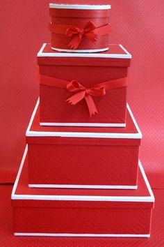 bell'ochio red matelassé boxes