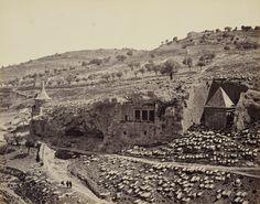 2 апреля 1862. Вид долины Иосафата. Гробница Авессалома и гробница Захарии…