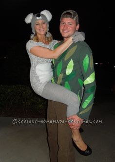 Original Couple Costume Idea: Koala Kouple!... This website is the Pinterest of costumes