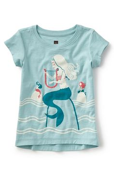 Tea Collection 'Serenading Sirens' Graphic Tee (Toddler Girls, Little Girls & Big Girls)