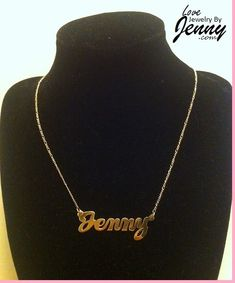 e781b6cf5c30db Solid Real 10K Gold Name Plate (single plate) with free chain/ Personalized,  High Polished