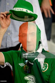 #EURO2016 LILLE, FRANCE - JUNE 22: Ireland fan before the UEFA EURO 2016 Group E match between Italy and Republic of Ireland at Stade Pierre-Mauroy on June 22, 2016 in Lille, France. Ireland won the match 1-0.