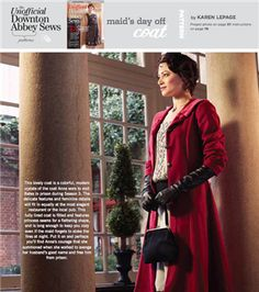 Maid's Day Off Coat PDF Pattern (Sew Daily), Project instructions are in Stitch magazine's The Unofficial Downton Abbey Sews issue.