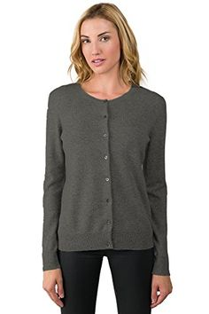 Special Offer: $128.00 amazon.com This Cashmere Button Front Cardigan Sweater is crafted from luxe cashmere. Featuring a classic crew neckline and a clean self-facing placket with natural shell button closures, this cozy cashmere cardigan sweater is an essential element for every closet. We...