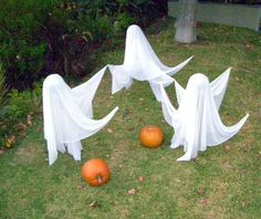 how to make floating halloween ghosts