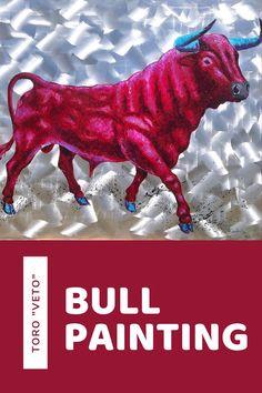 Bull Painting, Mallorca Island, Popular Art, Types Of Art, Beautiful Islands, Animal Paintings, Art Forms, Moose Art, Art Gallery