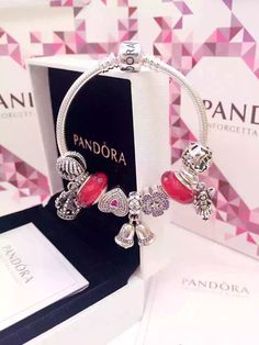50% OFF!!! $239 Pandora Charm Bracelet Red. Hot Sale!!! SKU: CB01742 - PANDORA Bracelet Ideas