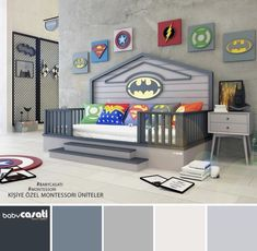 Go look at our information site for a lot more regarding this excellent photo Boy Toddler Bedroom, Boys Bedroom Decor, Baby Bedroom, Boy Room, Party Set, Deco Kids, Superhero Room, Small Space Interior Design, Kids Corner