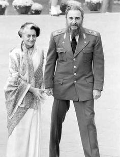 Indira Gandhi with Fidel Castro