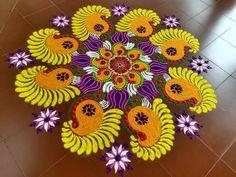 Rangoli Patterns, Rangoli Ideas, Rangoli Designs Diwali, Rangoli Designs Images, Kolam Rangoli, Flower Rangoli, Best Rangoli For Diwali, Latest Rangoli, Indian Rangoli