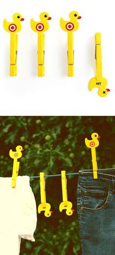 Sitting Ducks Clothes Pins