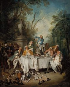 Luncheon Party in a Park. Oil on canvas, by Nicolas Lancret, c. 1735, Museum of Fine Arts, Boston
