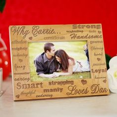 Personalized Why I Love You Engraved Picture Frame - Gifts Happen Here