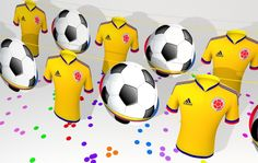 La selección Colombia, nuestro orgullo..! Soccer Ball, Party, Themed Parties, Parties Kids, Products, Colombia, Fiesta Party, European Football, Football