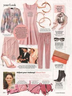 """October 2012 issue of InStyle provides a two-page """"color crash course"""" in petal pink - page 2"""