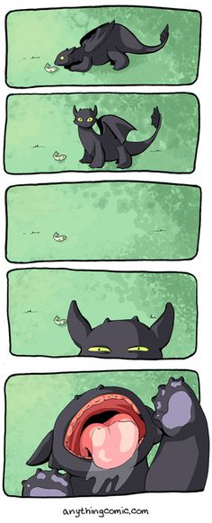 How to train your dragon :) hahaha silly Toothless!
