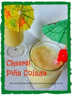 Discovering The World Through My Son's Eyes: Kid Friendly Piña Colada from Puerto Rico Puerto Rico, Recetas Salvadorenas, Boricua Recipes, Pina Colada, Cooking With Kids, Fun Drinks, New Recipes, Cravings, Food To Make