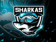 Sharkas Gaming - Mascot & Esport logo by AQR Studio on Dribbble